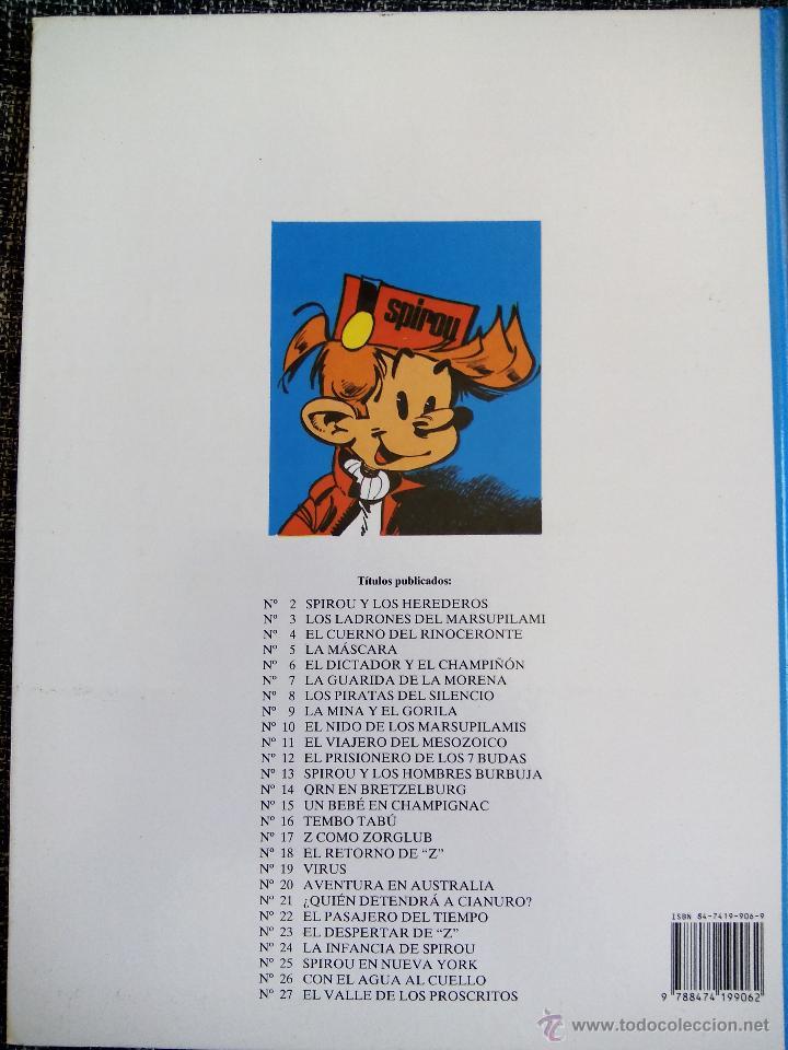 Cómics: SPIROU Y FANTASIO. EL VALLE DE LOS PROSCRITOS. Nº27. TOME & JANRY. ESPAÑA 1991. - Foto 2 - 44189032