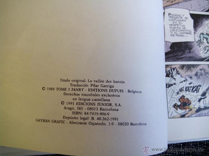 Cómics: SPIROU Y FANTASIO. EL VALLE DE LOS PROSCRITOS. Nº27. TOME & JANRY. ESPAÑA 1991. - Foto 4 - 44189032