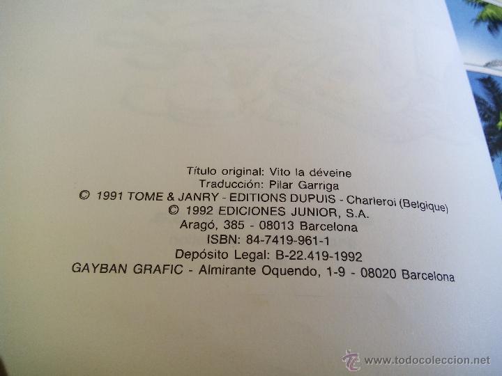 Cómics: SPIROU Y FANTASIO. VITO EL CENIZO. Nº29. TOME & JANRY. ESPAÑA 1992. - Foto 5 - 44189193