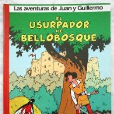 Cómics: LAS AVENTURAS DE JUAN Y GUILLERMO - Nº 2 - EL USURPADOR DE BELLOBOSQUE - PEYO - ED. JUNIOR - 1986. Lote 44251651