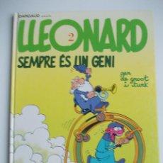 Cómics: LLEONARDO-SEMPRE ES UN GENI-Nº2-DARGAUD-COLUMNA-IMPECABLE-CATALAN. Lote 44469680