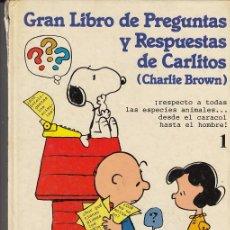 Cómics: CHARLIE BROWN CARLITOS Y SNOOPY - EL GRANLIBRO DE PREGUNTAS DE CARLITOS TOMO TAPA DURA Nº 1 GRIJALBO. Lote 45094977