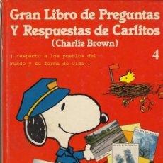 Cómics: CHARLIE BROWN CARLITOS Y SNOOPY - EL GRANLIBRO DE PREGUNTAS DE CARLITOS TOMO TAPA DURA Nº 4 GRIJALBO. Lote 199649036