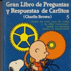Cómics: CHARLIE BROWN CARLITOS Y SNOOPY - EL GRANLIBRO DE PREGUNTAS DE CARLITOS TOMO TAPA DURA Nº 5 GRIJALBO. Lote 45095000