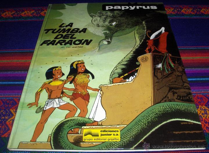 PAPYRUS Nº 4 LA TUMBA DEL FARAÓN. GRIJALBO 1988. BUEN ESTADO Y DIFÍCIL!!!!! (Tebeos y Comics - Grijalbo - Papyrus)