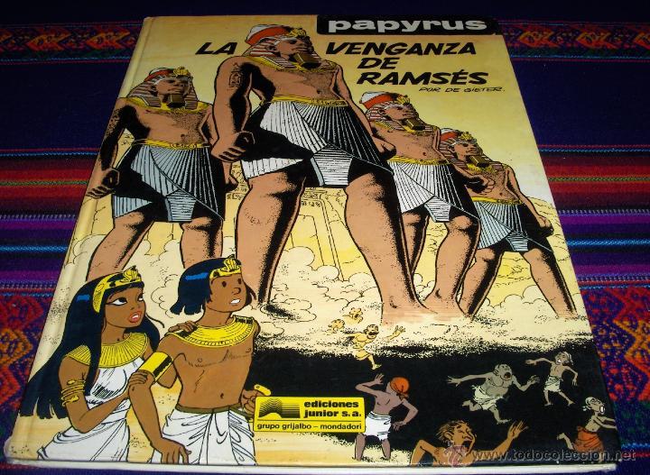 PAPYRUS Nº 7 LA VENGANZA DE RAMSÉS. GRIJALBO 1990. REGALO Nº 10 LA PIRÁMIDE NEGRA. DIFÍCIL. (Tebeos y Comics - Grijalbo - Papyrus)