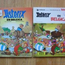 Cómics: ASTERIX EN BELGICA, LAS DOS VERSIONES DIFERENTES DE TAPAS. Lote 45794286
