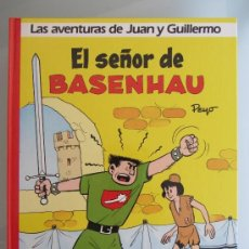 Cómics: LOTE DE 4 ÁLBUMES GRIJALBO DE LAS AVENTURAS DE JUAN Y GUILLERMO (JOHAN Y PIRLUIT) DE PEYO. Lote 46288238