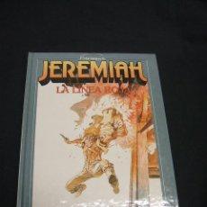 Cómics: JEREMIAH - Nº 16 - LA LINEA ROJA - EJEMPLAR FIRMADO Y CON DIBUJO DE HERMANN - GRIJALBO - . Lote 47424808