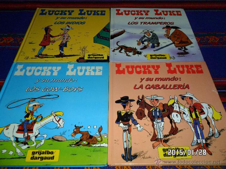 LUCKY LUKE Y SU MUNDO COMPLETA COW-BOYS, CABALLERÍA, INDIOS Y TRAMPEROS. GRIJALBO 1985. RAROS!!!!! (Tebeos y Comics - Grijalbo - Lucky Luke)