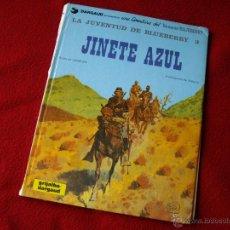 Cómics: COMIC : JINETE AZUL ( PASTAS DURAS ) - GRIJALBO / DARGAUD 1981. Lote 47991996