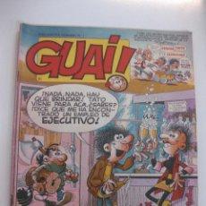 Cómics: LOTE DE 9 TEBEOS GUAI !... (NUMEROS 38,59,60,62,63,64,66,68,69). EDICIONES JUNIOR 1986.. Lote 48320809
