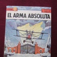 Cómics: EL ARMA ABSOLUTA. LEFRANC TOMO Nº 8. J.MARTIN Y G.CHAILLET. EDICIONES JUNIOR GRIJALBO 1988. Lote 48824432