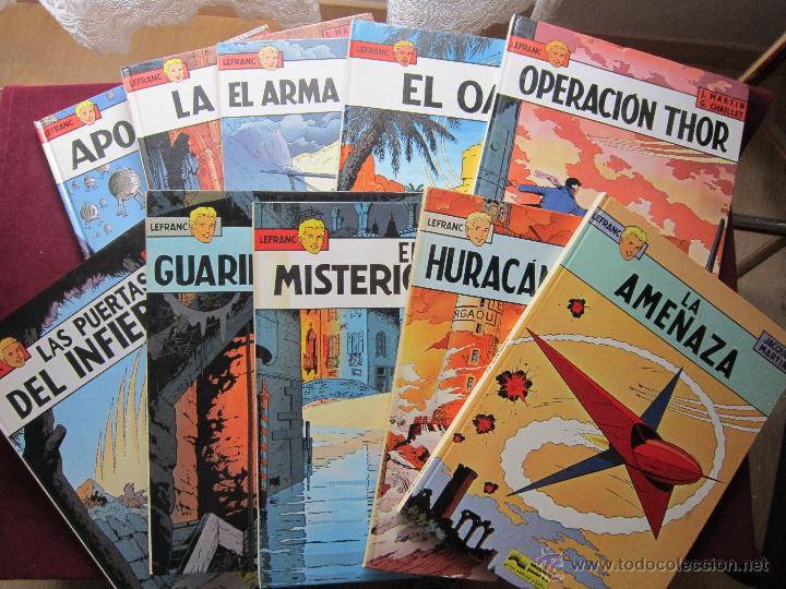 LEFRANC. COLECCIÓN COMPLETA 10 ÁLBUMES. MARTIN & CHAILLET. JUNIOR GRIJALBO 1986-1989 MBE (Tebeos y Comics - Grijalbo - Lefranc)
