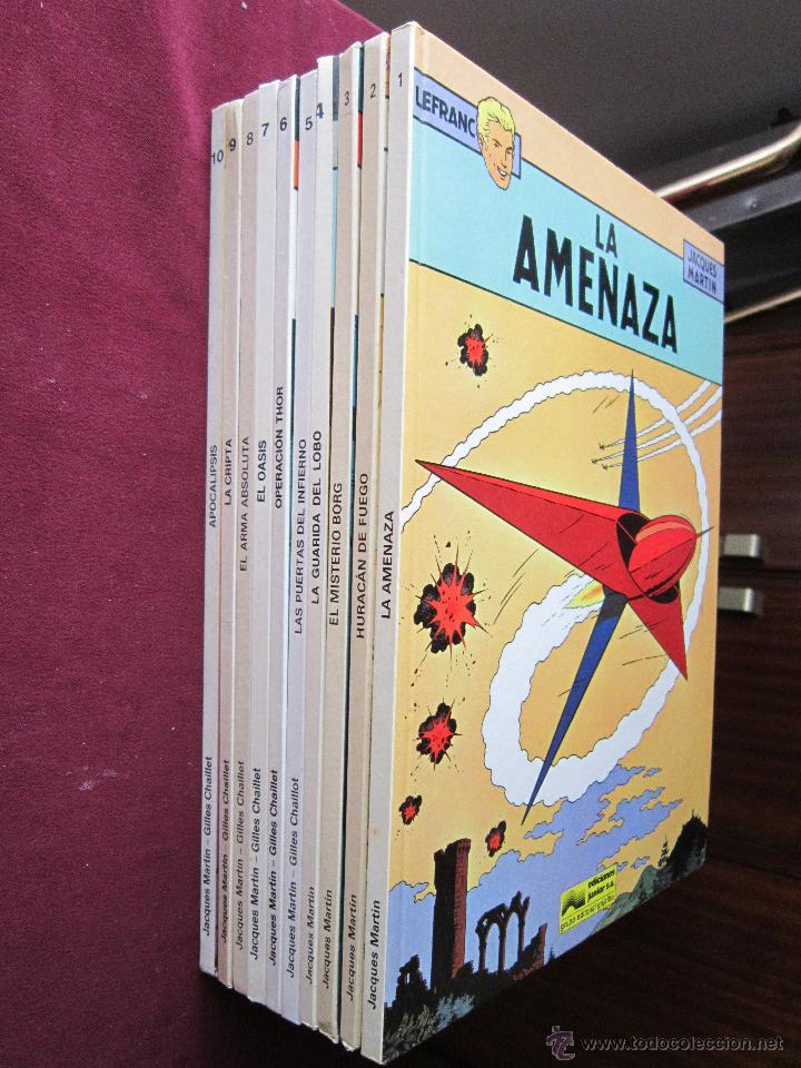 Cómics: Lefranc. Colección Completa 10 álbumes. Martin & Chaillet. Junior Grijalbo 1986-1989 MBE - Foto 2 - 48824479