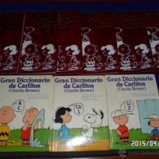Cómics: GRAN DICCIONARIO Y LIBRO DE PREGUNTAS Y RESPUESTAS DE CARLITOS CHARLIE BROWN COMPLETA. GRIJALBO 1984. Lote 49025864