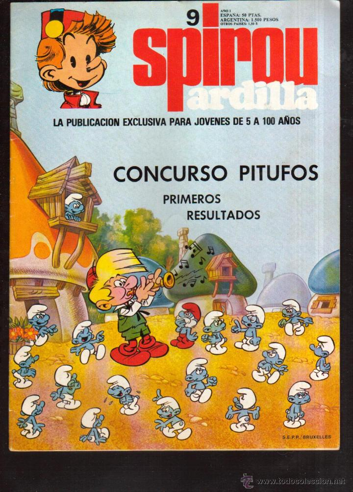 TEBEO COMIC COLECCIÓN SPIROU ARDILLA Nº 9 VER FOTO QUE NO TE FALTE EN TU COLECCION (Tebeos y Comics - Grijalbo - Spirou)