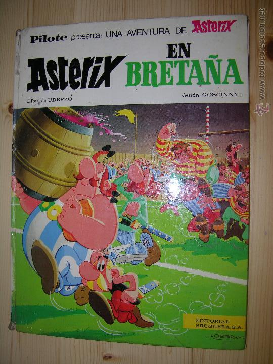 ASTERIX EN BRETAÑA , AÑO 1969( LOMO DETERIORADO) (Tebeos y Comics - Grijalbo - Asterix)