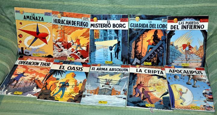 SERIE COMPLETA EN ESPAÑOL DE 10 TOMOS: LAS AVENTURAS DEL REPORTERO LEFRANC - GRIJALBO 1986-1989 (Tebeos y Comics - Grijalbo - Lefranc)