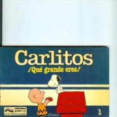 Cómics: CARLITOS Nº 01 - QUE GRANDE ERES - SCHULZ - EDICIONES JUNIOR - GRIJALBO - 1983. Lote 50406286