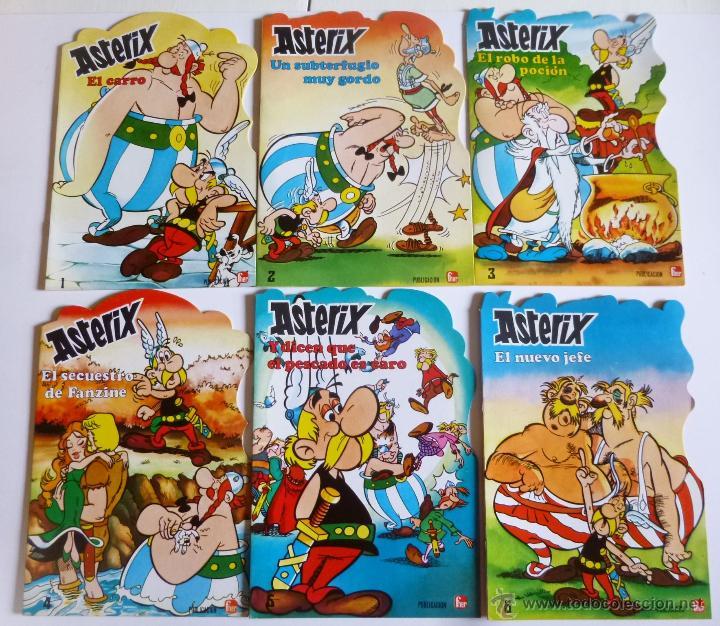 CUENTOS TROQUELADOS ASTERIX 1 A 6 COMPLETA (GOSCINNY Y UDERZO) PUBLICACIONES FHER, 1981 OFRT (Tebeos y Comics - Grijalbo - Asterix)