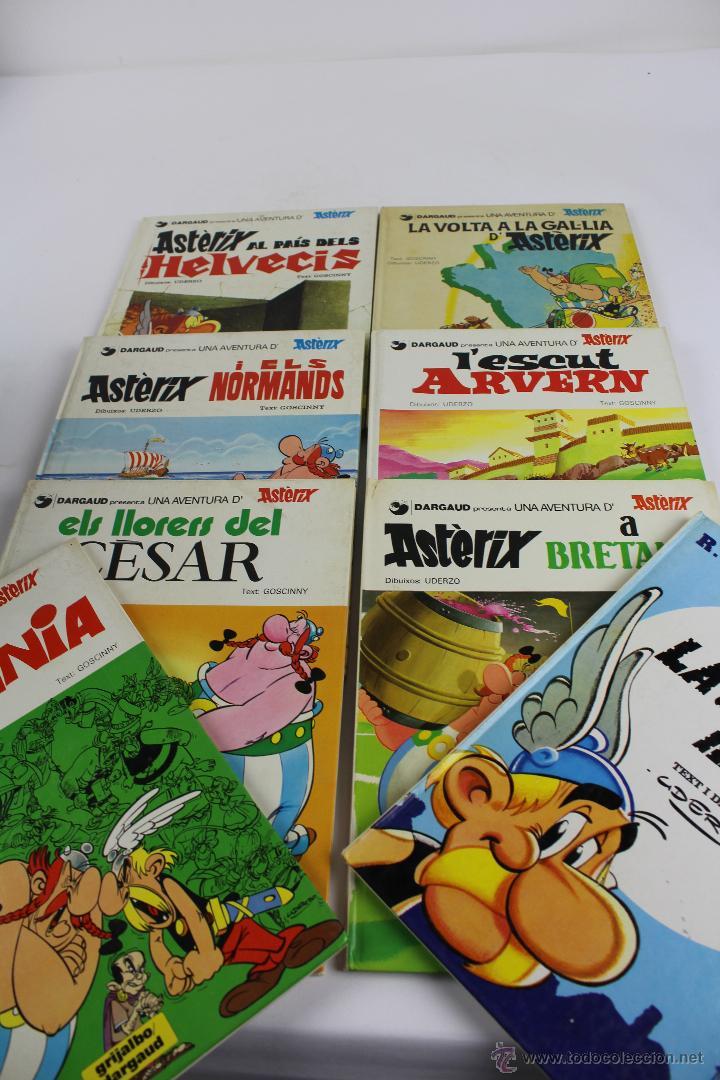 L-1007. ASTERIX EN CATALÁ. VUIT LLIBRES.EN BON ESTAT. GRIJALBO/DARGAUD. DIVERSES EDICIONS ANYS 80. (Tebeos y Comics - Grijalbo - Asterix)