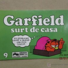 Cómics: GARFIELD Nº 9 - GARFIELD SURT DE CASA - JUNIOR 1991 - FORMAT APAISAT - EN CATALÀ - EN BON ESTAT . Lote 53608116