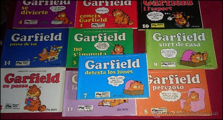 LOTE DE 10 NÚMEROS VARIADOS DEL COMIC GARFIELD - NÚMEROS SEGÚN FOTO ( CASTELLANO Y CATALÀ ) (Tebeos y Comics - Grijalbo - Otros)