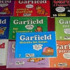 Cómics: LOTE DE 10 NÚMEROS VARIADOS DEL COMIC GARFIELD - NÚMEROS SEGÚN FOTO ( CASTELLANO Y CATALÀ ). Lote 55718930