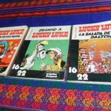 Cómics: LUCKY LUKE COL. 16 22 NºS 4 7 10 DESAFÍO A, LA BALADA DE LOS DALTON, SONATA EN COLT MAYOR. GRIJALBO. Lote 54388662