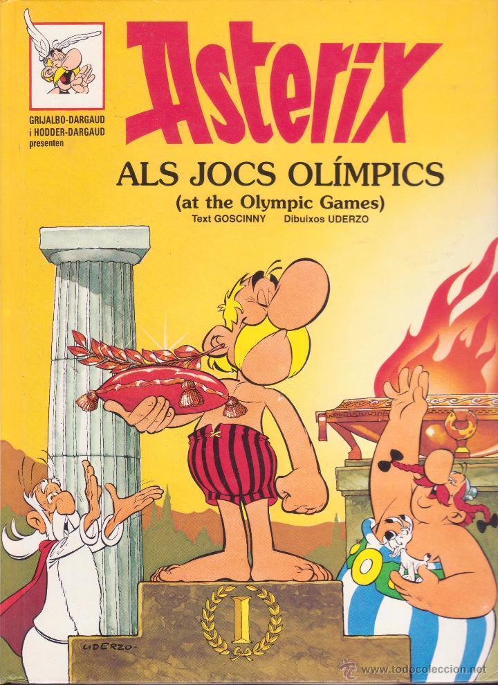 ASTERIX ALS JOCSS OLÍMPICS I ASTERIX EL COMBAT DELS CAPS -- EN CATALÀ I ANGLÈS (Tebeos y Comics - Grijalbo - Asterix)