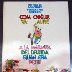 Cómics: LIBRO ASTERIX Y OBELIX CATALAN CATALA COM OBELIX VA CAURE A LA MARMITA DEL DRUIDA QUAN ERA PETIT 90. Lote 54454605