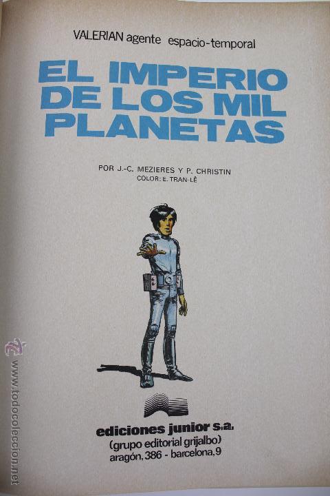 Cómics: L-3403. VALERIAN AGENTE ESPACIO-TEMPORAL. EL IMPERIO DE LOS MIL PLANETAS. MEZIERS/ P. CHRISTIN. 1978 - Foto 4 - 54960758