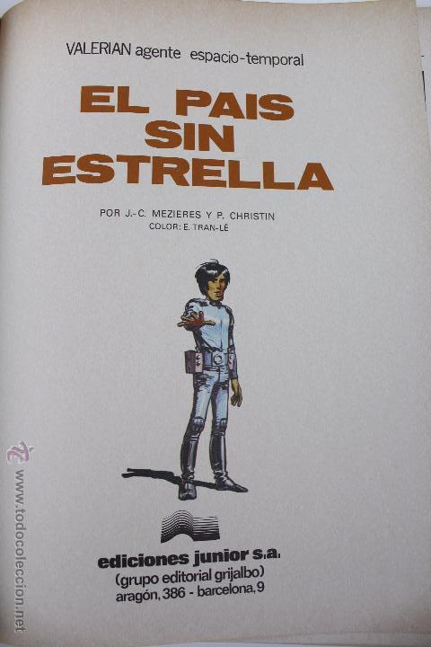 Cómics: L-3404 VALERIAN AGENTE ESPACIO-TEMPORAL. EL PAIS SIN ESTRELLA. MEZIERS/ P. CHRISTIN. 1978. - Foto 4 - 54960853