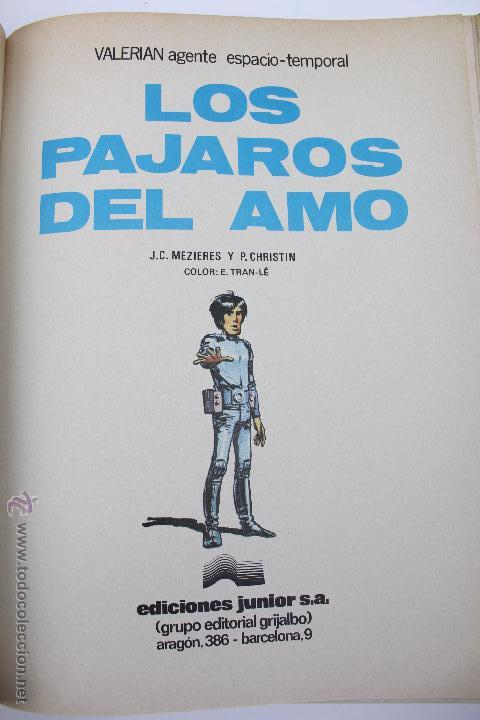 Cómics: L-3406. VALERIAN AGENTE ESPACIO-TEMPORAL. LOS PAJAROS DEL AMO. MEZIERS/ P. CHRISTIN. 1979. - Foto 4 - 54961041