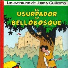 Cómics: PEYO - AVENTURAS DE JUAN Y GUILLERMO Nº 2, EL USURPADOR DE BELLOBOSQUE - ED. JUNIOR 1986 - TAPA DURA. Lote 55041172