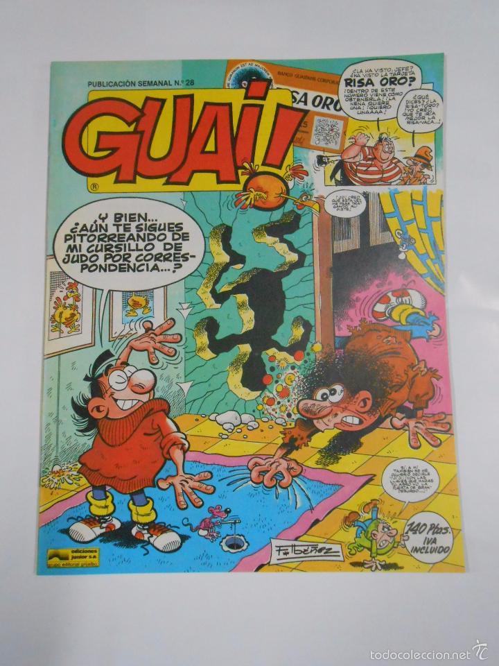 GUAI! Nº 28. PUBLICACION SEMANAL. EDICIONES JUNIOR GRIJALBO. TDKC16 (Tebeos y Comics - Grijalbo - Otros)