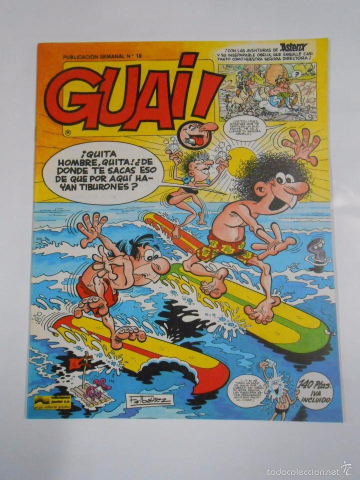 GUAI! Nº 18. PUBLICACION SEMANAL. EDICIONES JUNIOR GRIJALBO. TDKC16 (Tebeos y Comics - Grijalbo - Otros)