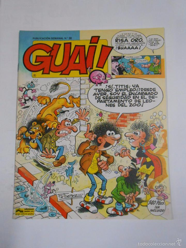 GUAI! Nº 30. PUBLICACION SEMANAL. EDICIONES JUNIOR GRIJALBO. TDKC16 (Tebeos y Comics - Grijalbo - Otros)