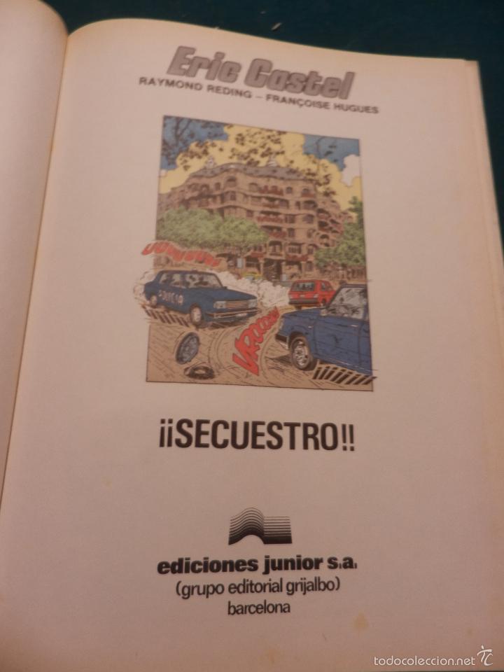 Cómics: ERIC CASTEL Nº 11 - ¡¡SECUESTRO!! COMIC DE R. REDING & F. HUGUES - EDICIONES JUNIOR-GRIJALBO - Foto 2 - 57061334