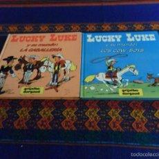 Cómics: LUCKY LUKE Y SU MUNDO NºS 2 4 LOS COW-BOYS LA CABALLERÍA. GRIJALBO 1985. RAROS. BE.. Lote 57380949