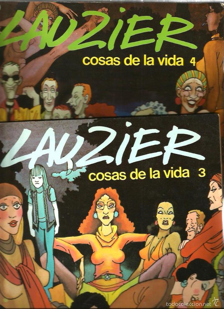 Cómics: LAUZIER - LAS COSAS DE LA VIDA (LOTE VOLUMENES 1, 2 , 3 Y 4) - Foto 3 - 57921271