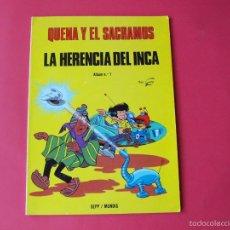Cómics: QUENA Y EL SACRAMÚS, LA HERENCIA DEL INCA - ÁLBUM Nº 1 - SEPP / MUNDIS 1979. Lote 58195711
