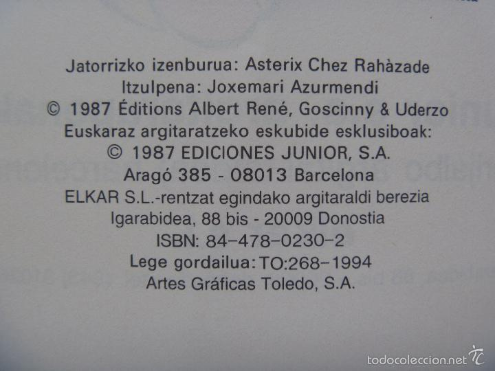 Cómics: Asterix euskera Indian edo mila eta bat orduen ipuina - Foto 4 - 268603144