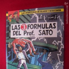 Cómics: BLAKE Y MORTIMER 12 - LAS TRES FORMULAS DEL PROF. SATO 2ª - E. P. JACOBS & BOB DE MOOR - CARTONE. Lote 58358798