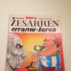 Cómics: ASTERIX IDIOMAS Nº 12 ZESARREN ERRAMU-KOROA. LOS LAURELES DEL CESAR. EUSKERA VASCO ELKAR TAPA BLANDA. Lote 58492597