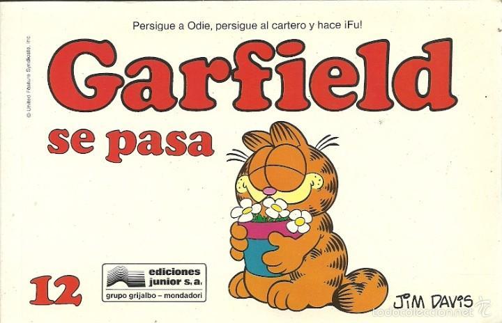 GARFIELD 12.GARFIELD SE PASA.GRIJALBO.1990. (Tebeos y Comics - Grijalbo - Otros)