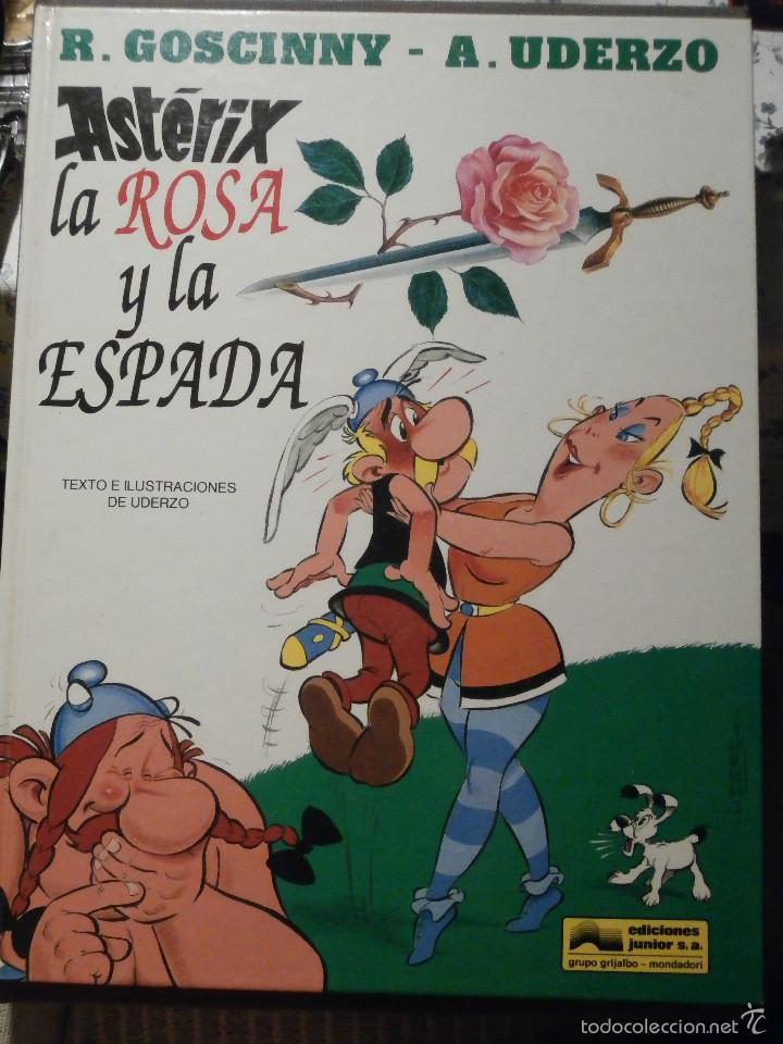 COMIC - TEBEO - ASTERIX LA ROSA Y LA ESPADA - EDICIONES JUNIOR - 1991 - 1ª EDICIÓN - (Tebeos y Comics - Grijalbo - Asterix)