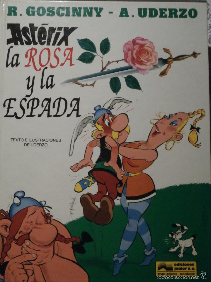 Cómics: COMIC - TEBEO - ASTERIX LA ROSA Y LA ESPADA - EDICIONES JUNIOR - 1991 - 1ª EDICIÓN - - Foto 2 - 58645092