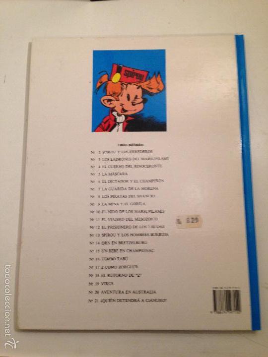 Cómics: LAS AVENTURAS DE SPIROU Y FANTASIO Nº 21. ¿QUIEN DETENDRA A CIANURO?. JUNIOR GRIJALBO 1989 - Foto 3 - 58853721
